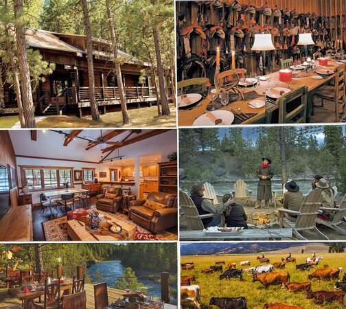 The Resort at Paws Up in Montana ~ Five-Star, All Inclusive, Vacation Package. Three day, Two-night complimentary stay in an exquisitely appointed Meadow Log Home for (2) guest.
